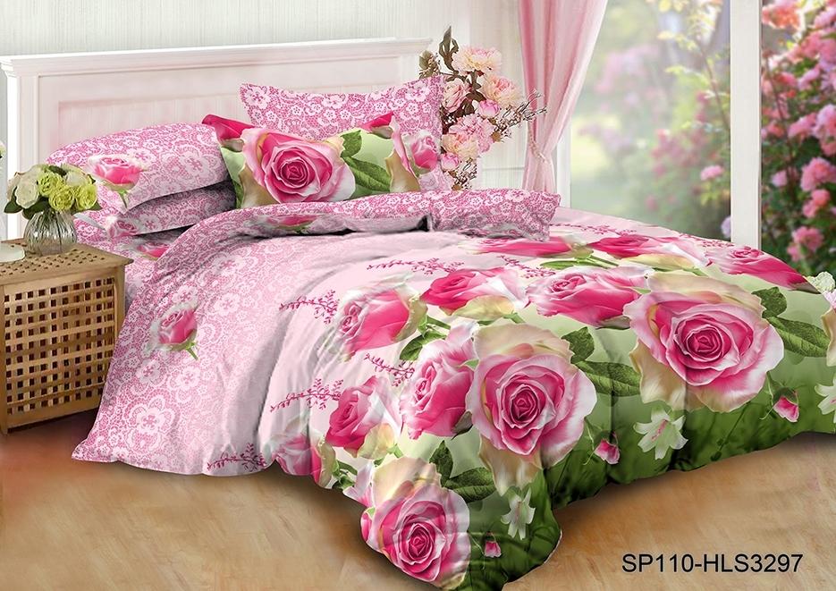 комплект постельного белья полисатин опс-3297