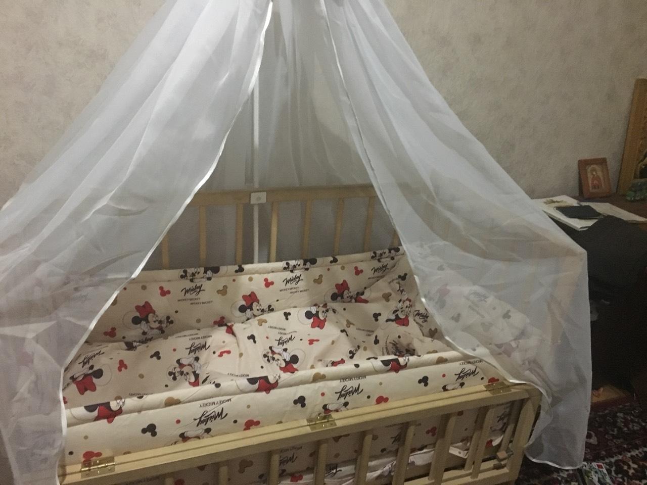 комплект в детскую кроватку с балдахином ккб - 130