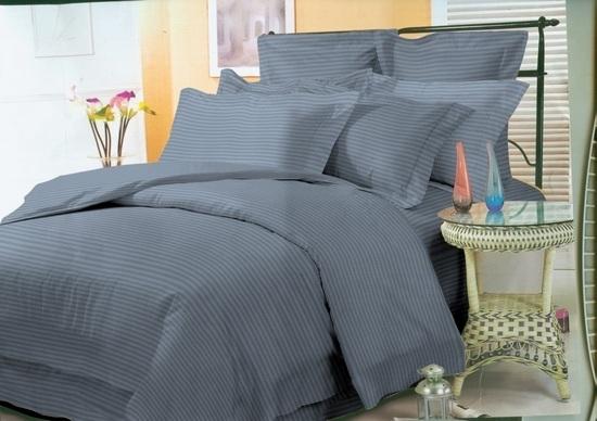 комплект постельного белья страйп-сатин ДСС-3916