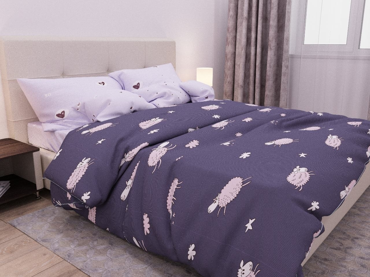 комплект постельного белья бязь дб-4080