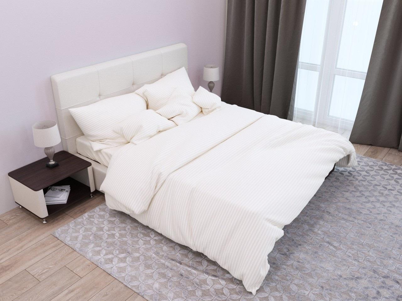 комплект постельного белья страйп-сатин ЕСС-0507