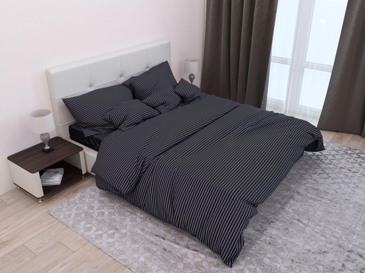 комплект постельного белья страйп-сатин ссс-4007