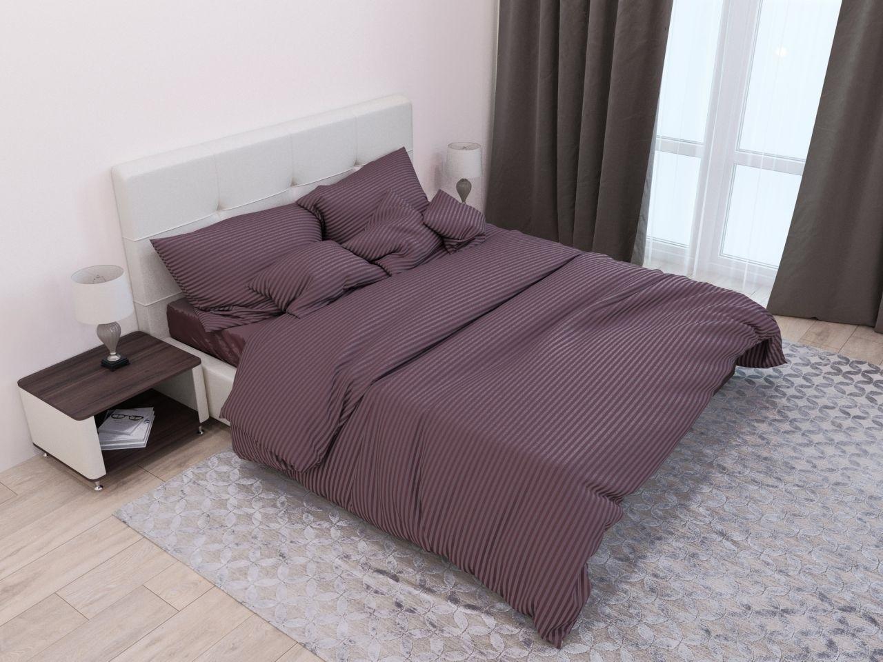 комплект постельного белья страйп-сатин ЕСС-1420