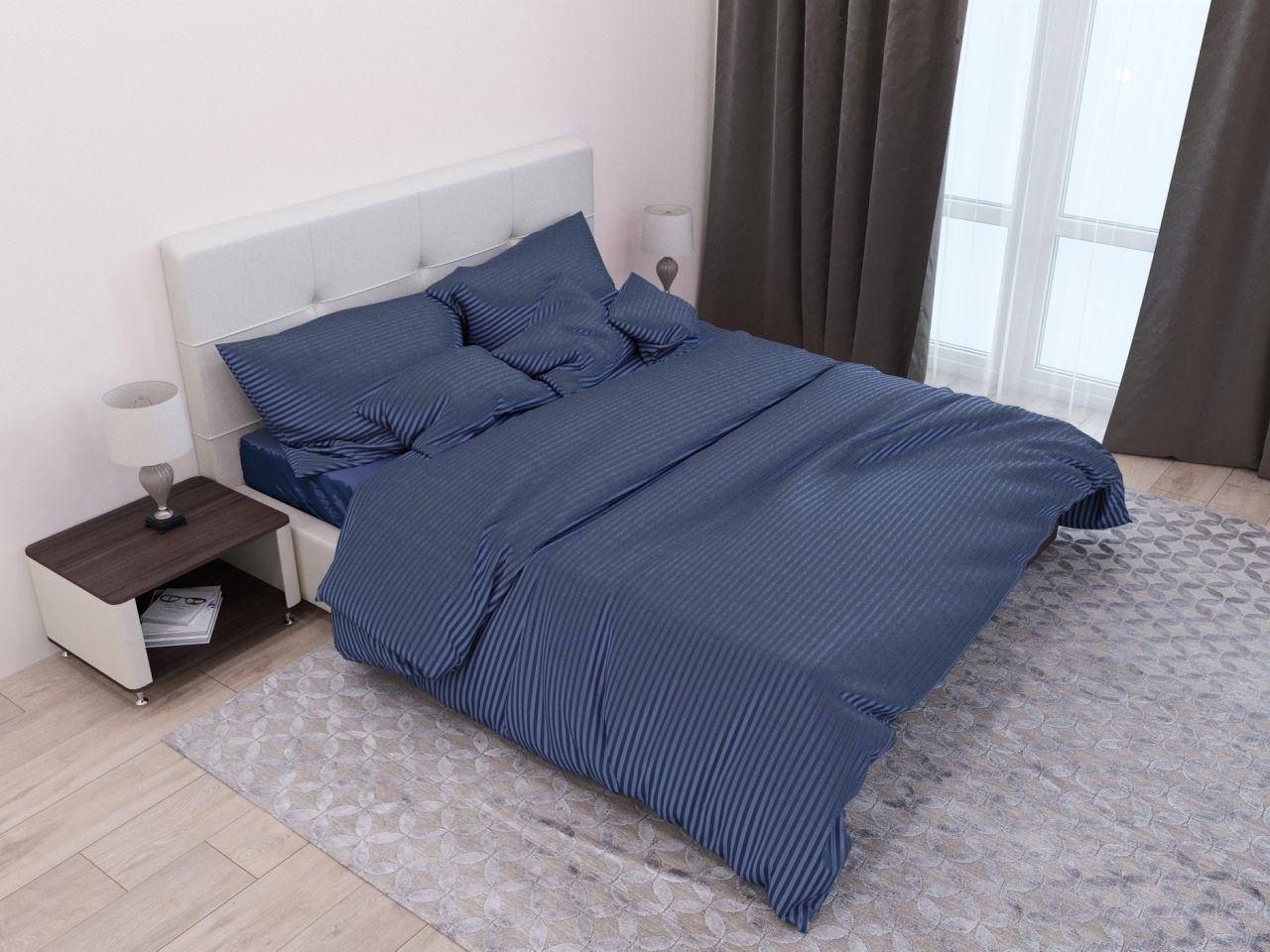 комплект постельного белья страйп-сатин ЕСС-4027