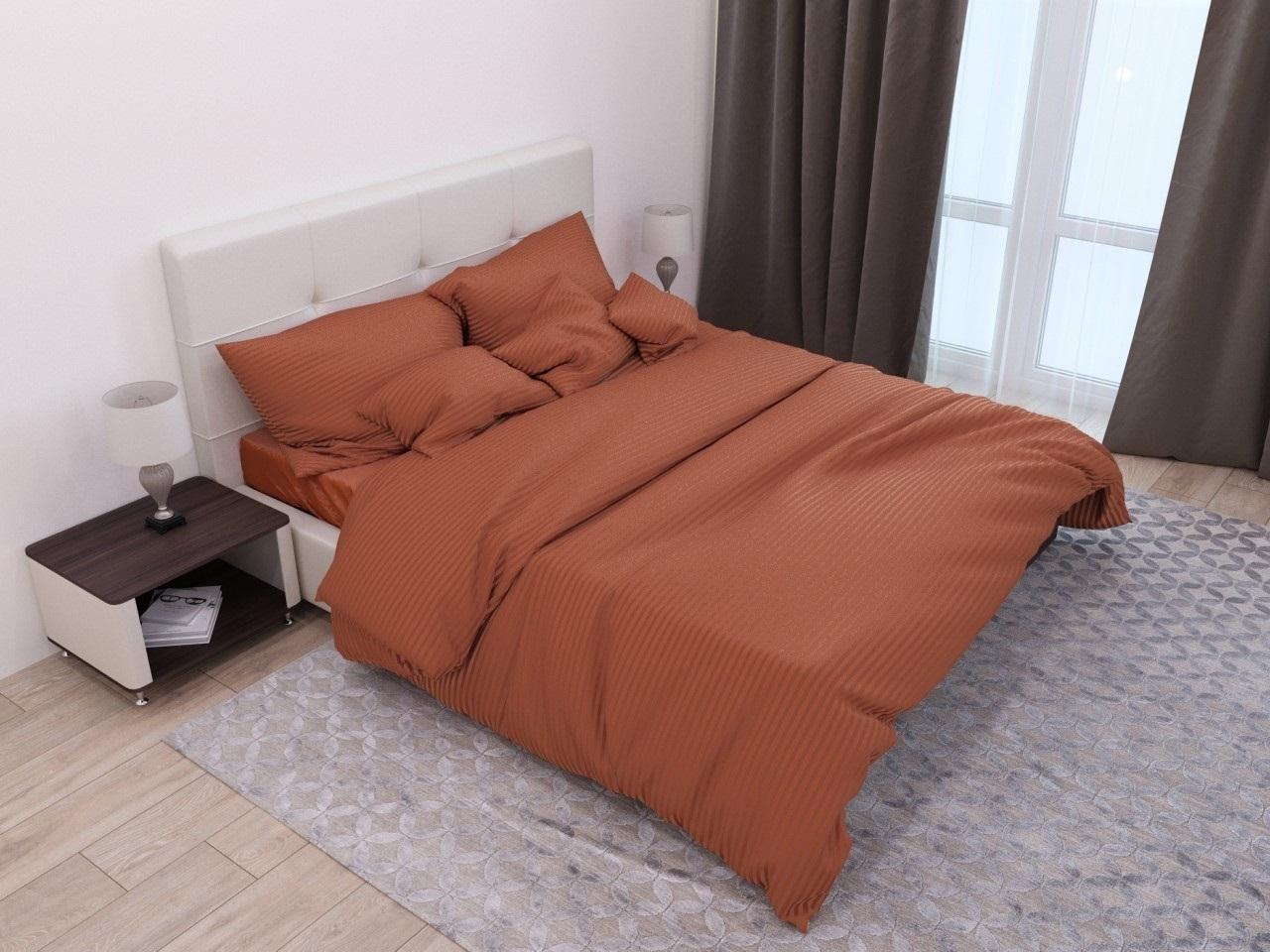 комплект постельного белья страйп-сатин ДСС-1340