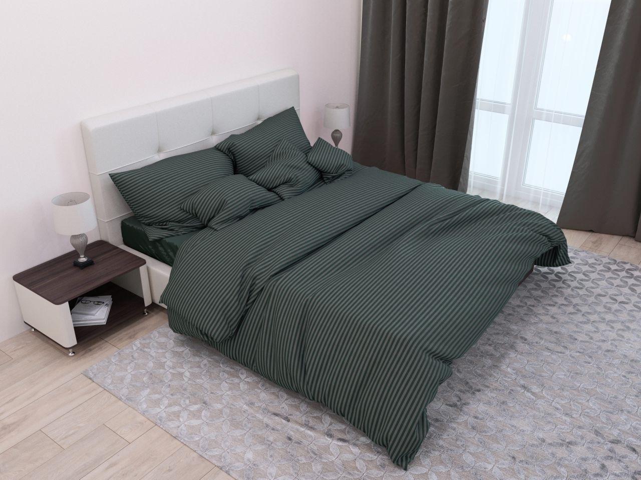 комплект постельного белья страйп-сатин ДСС-5918