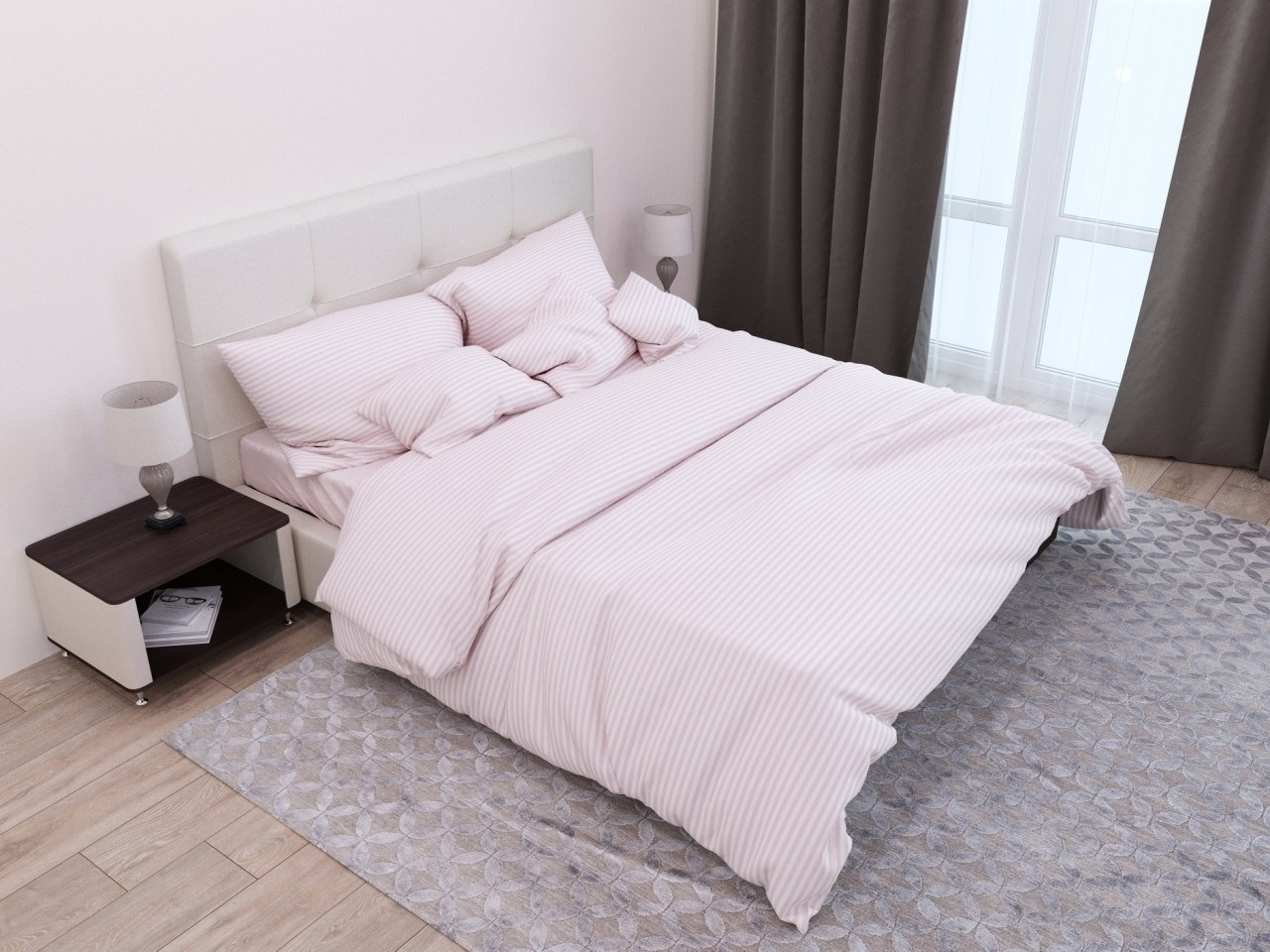комплект постельного белья страйп-сатин ДСС-1206