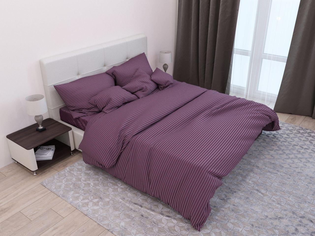 комплект постельного белья страйп-сатин ОСС-1716