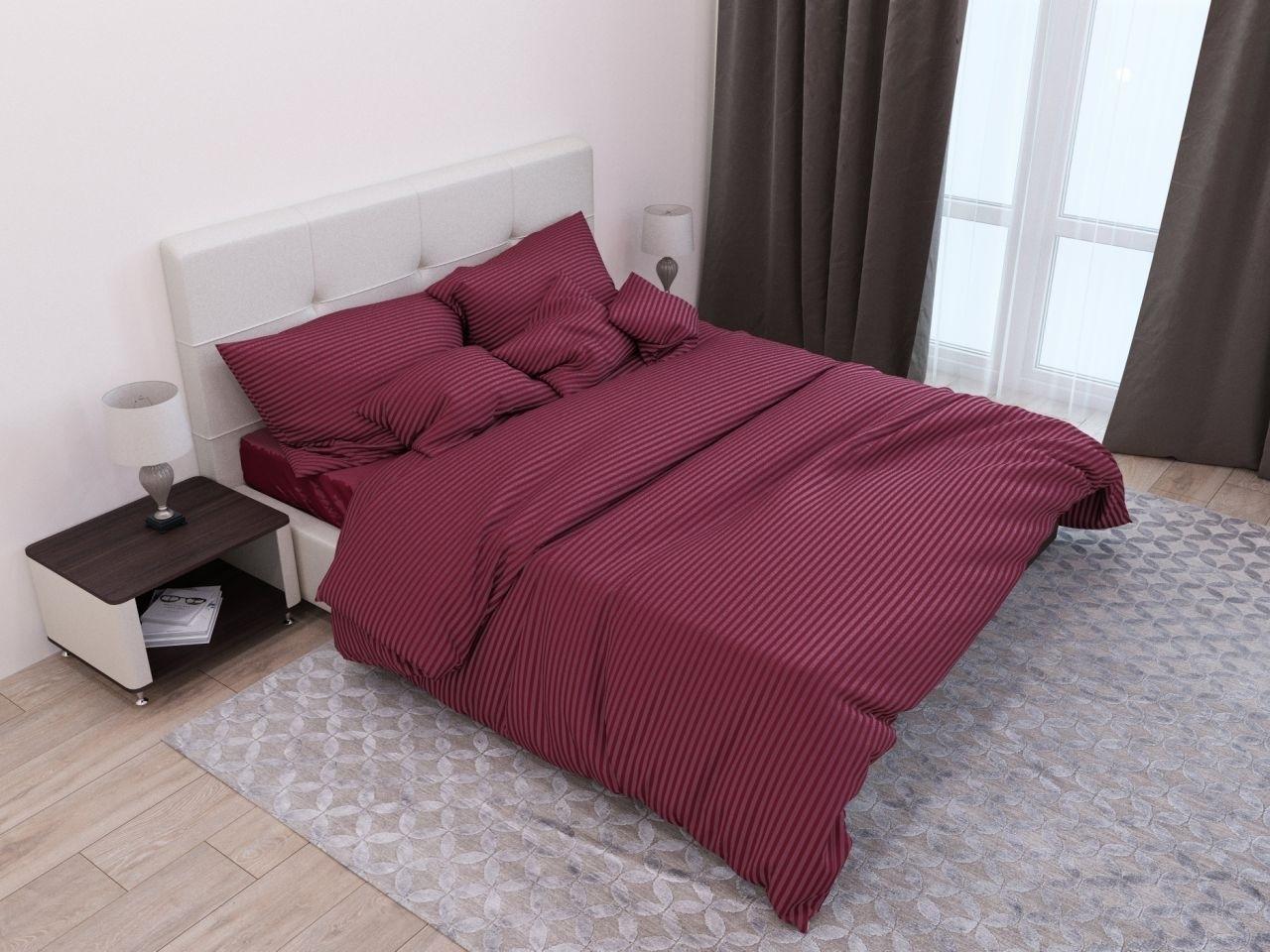 комплект постельного белья страйп-сатин ОСС-1652