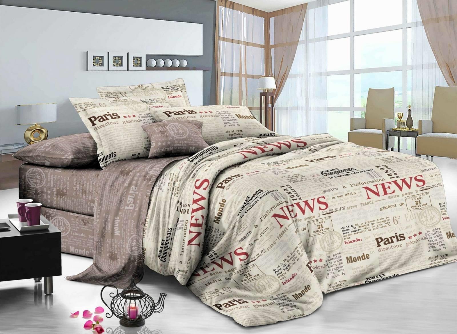комплект постельного белья сатин ес-73-4